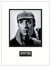 Basil Rathbone Autograph Signed Display - Sherlock Holmes